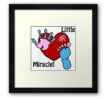 'Little Miracle' Baby Hand and Foot Print Design Framed Print