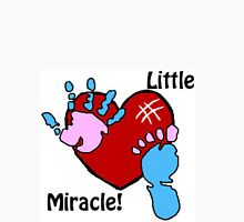 'Little Miracle' Baby Hand and Foot Print Design Women's Fitted Scoop T-Shirt