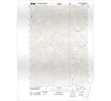 USGS Topo Map Idaho Monroe Butte 20110817 TM Poster