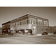 Alpena, Michigan - Thunder Bay Theatre Photographic Print
