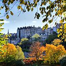 An Autumnal Frame Round the Tenements of Edinburgh by Sandra Cockayne