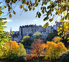 An Autumnal Frame Round the Tenements of Edinburgh by Sandra Cockayne