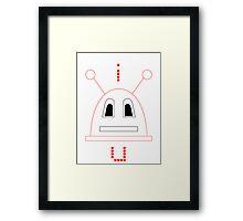 I Robot U (Red) Framed Print