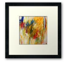 Ignition. 24 x 24. Acrylic Painting. Framed Print