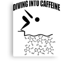 Diving Into Caffeine Canvas Print