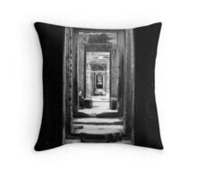 Angkor Door Throw Pillow
