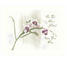 My New Orchid Art Print