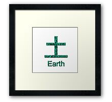 EARTH KANJI Framed Print