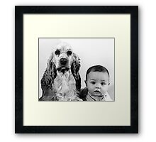 Babe and Gordy Framed Print