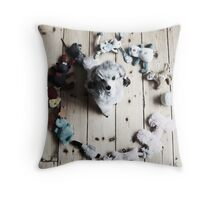 Circle of Toys Throw Pillow