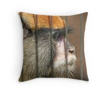 The Face of Captivity Throw Pillow