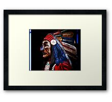 Neon Chief Framed Print