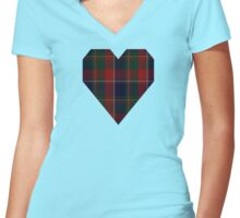 00120 Quebec, Plaid du Tartan Women's Fitted V-Neck T-Shirt