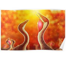 Ornithomimus Love (Color) Poster