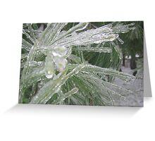 Green Ice Greeting Card