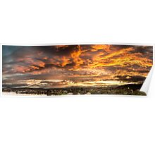 Canberra Sunset Panorama Poster