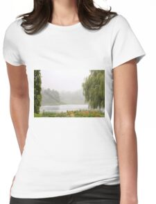 Foggy Lake Womens Fitted T-Shirt