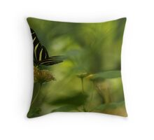 """Gliding in Pure Bliss-Conservatory Butterfly"" Throw Pillow"