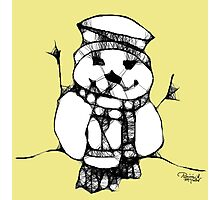 The Snowy Snowman Photographic Print