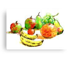 Scribbler fruit Canvas Print