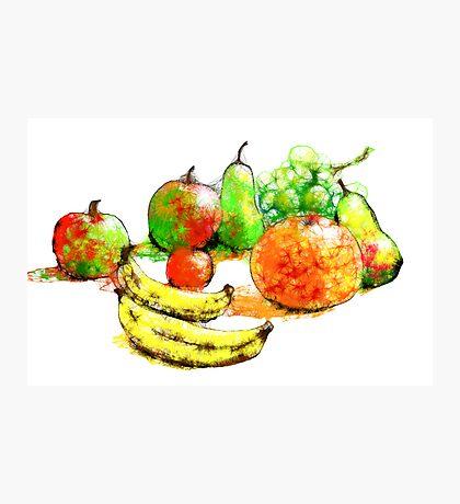 Scribbler fruit Photographic Print