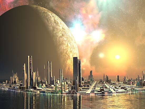 Utopia Islands - Cities of the Future by SpinningAngel