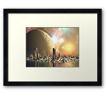 Utopia Islands - Cities of the Future Framed Print