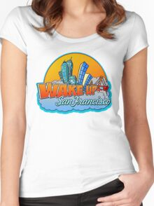 Wake Up San Francisco Women's Fitted Scoop T-Shirt