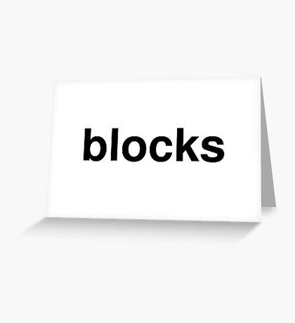 blocks Greeting Card