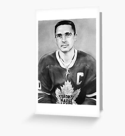 George Armstrong (Toronto Maple Leafs) Greeting Card