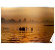 Hudson River Fog Poster