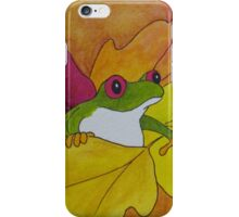 Frog Loves the Fall iPhone Case/Skin
