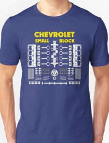 Chevrolet Small Block V8 Engine Parts  T-Shirt