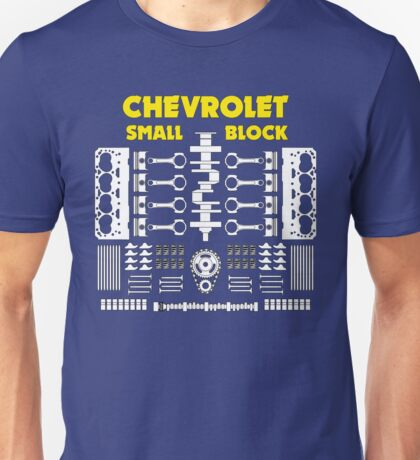 Chevrolet Small Block V8 Engine Parts  Unisex T-Shirt