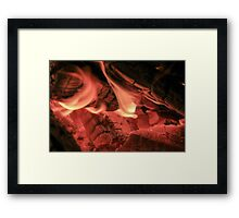 Soft Flames Framed Print