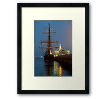 Dusk, Cunningham Pier Framed Print
