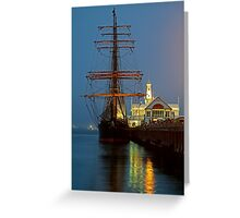 Dusk, Cunningham Pier Greeting Card