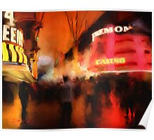 Fremont Street at Night Poster