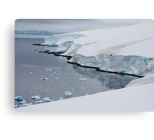 Ice cliffs on the Antarctic continent Canvas Print