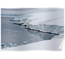 Ice cliffs on the Antarctic continent Poster