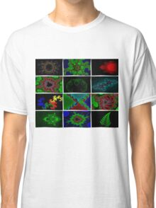 Twelve Fractal Images with Borders Classic T-Shirt
