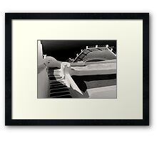 Steps, Walls, Shadows and Water ~ Black & White Framed Print
