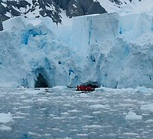 Ice cliffs in Paradise Bay Antarctica by mcreighton