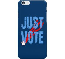 Just Vote Patriotic Voting Design iPhone Case/Skin