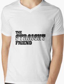 The Straight Friend Mens V-Neck T-Shirt