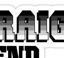 The Straight Friend Sticker
