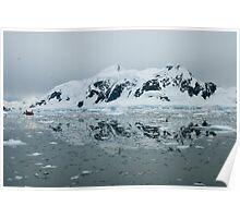 Antarctic reflections Paradise Bay  Poster