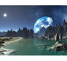 Earth-rise from an Alien Shore Photographic Print