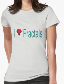 I Heart Fractals Womens Fitted T-Shirt
