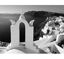 Overlooking the Caldera ~ Black & White Photographic Print